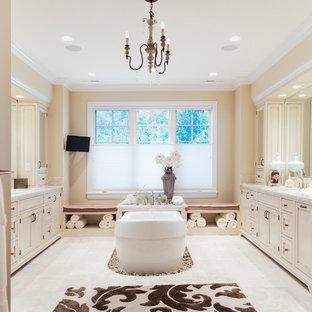 White And Cream Bathroom Houzz