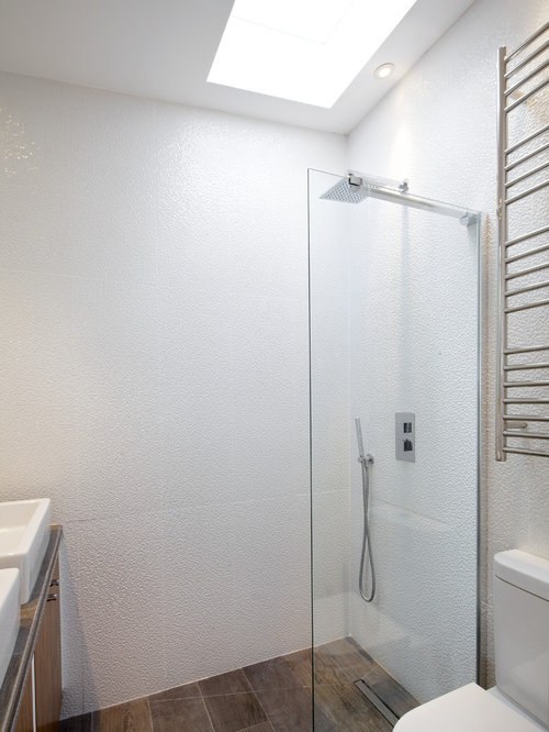 Small wet room houzz for Small ensuite wet room ideas