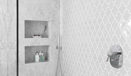 Smart väggförvaring: 9 sätt att jobba med hyllnischer i badrummet