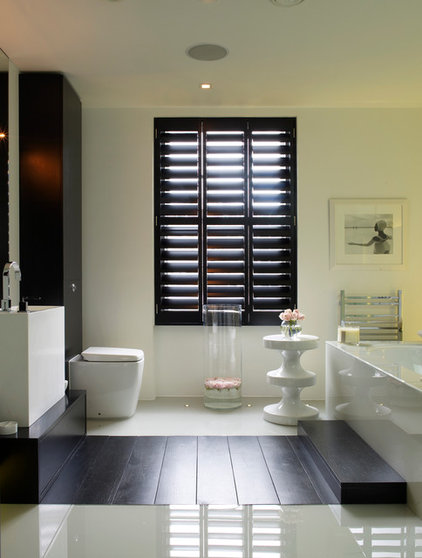 contemporary bathroom by Kelly Hoppen Interiors   A London Townhouse Seduces With Luxury 814150680048d54a 0483 w422 h558 b0 p0  contemporary bathroom