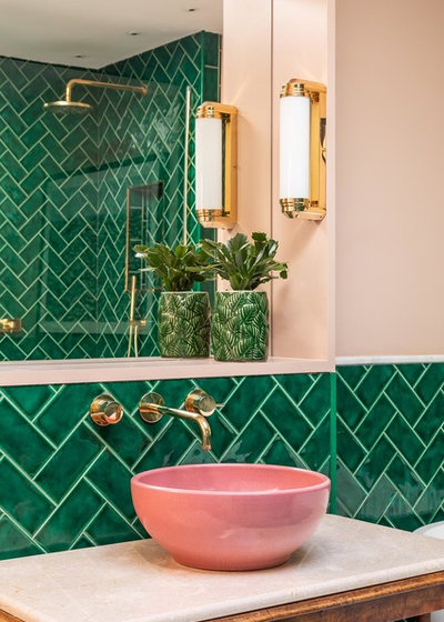 Eclectic Bathroom by Barlow & Barlow Design