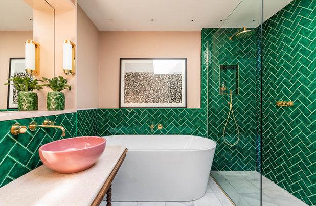 Eklektisch Badezimmer by Barlow & Barlow Design