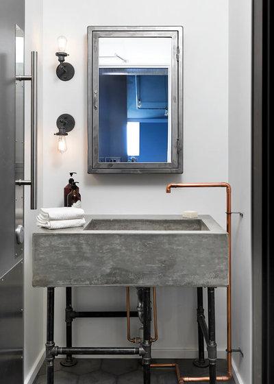 Industrial Bathroom by jodi foster design + planning