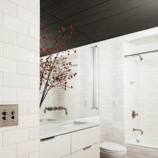 Industrial Bathroom by Jessica Helgerson Interior Design
