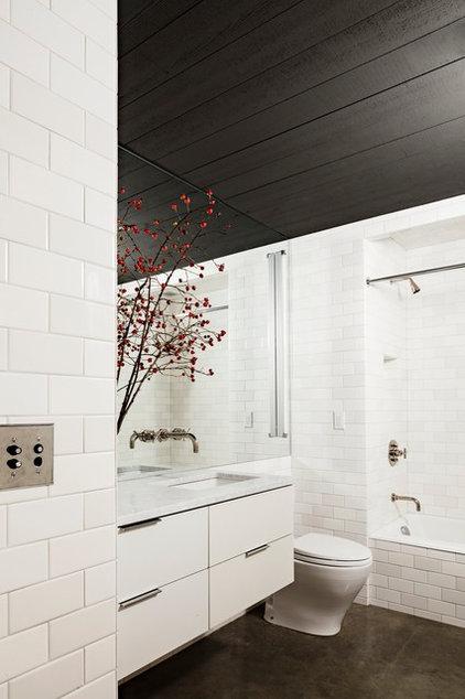 Industrial Bathroom by Jessica Helgerson Interior Design