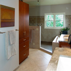 Transitional Bathroom by A Kitchen That Works LLC