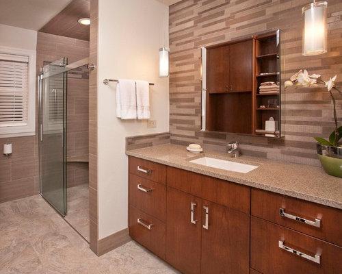 Ensuite Bathroom Design Ideas Renovations Photos With Beige Walls
