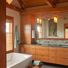 contemporary bathroom by MkM Architecture Inc