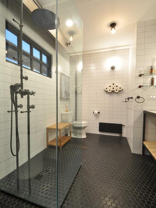 Foton och badrumsinspiration för industriella en-suite badrum, med ...