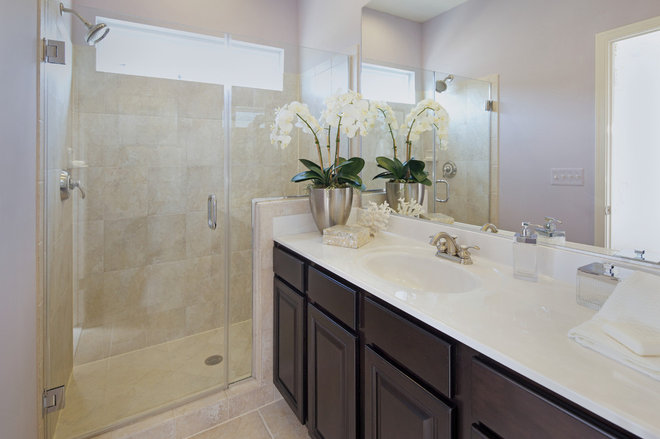 Contemporary Bathroom by Carlyn And Company Interiors + Design
