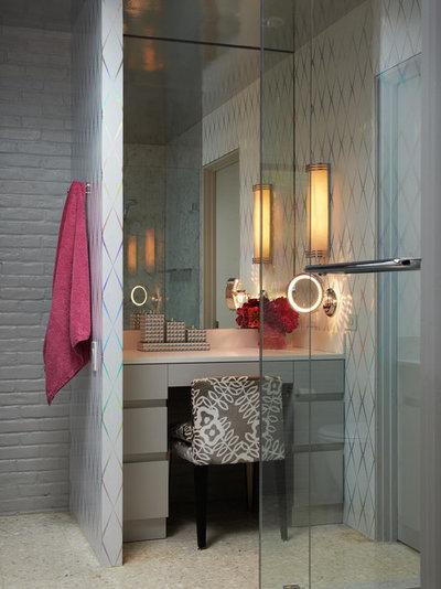 Midcentury Bathroom by Bauhaus Custom Homes