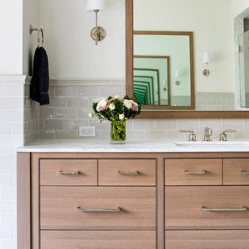 Oak and Marble Spa Master Bath