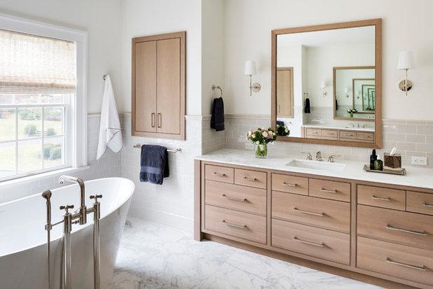 Transitional Bathroom by Studio Dearborn