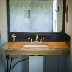 eclectic bathroom by Oak Hill Iron