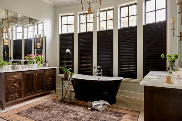 Transitional Bathroom by Natalie Hager