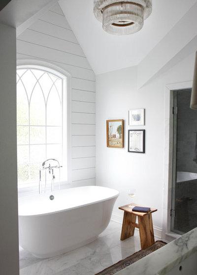 Farmhouse Bathroom by Park and Oak Design