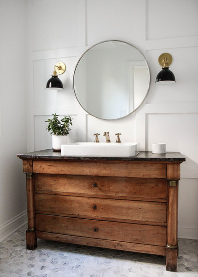 Farmhouse Bathroom by Park and Oak Design
