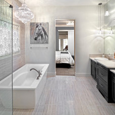 Transitional Bathroom by Parkwood Master Builder