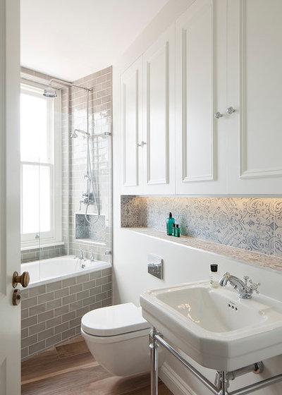 British Colonial Bathroom by Ardesia Design
