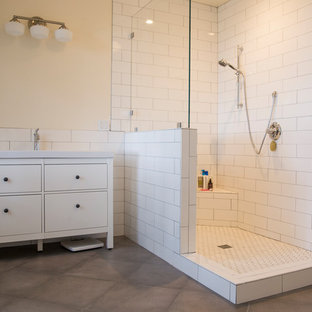 wall cavity bathroom contemporary with gold pendant light ...