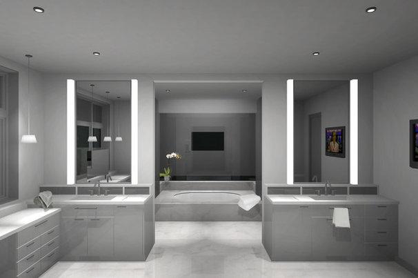Modern Bathroom by DNM Architect