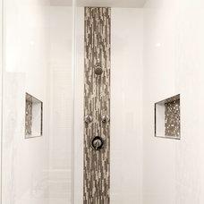 Transitional Bathroom by Finecraft Contractors, Inc.