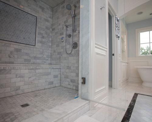 klassische badezimmer mit schwarzen fliesen design ideen. Black Bedroom Furniture Sets. Home Design Ideas