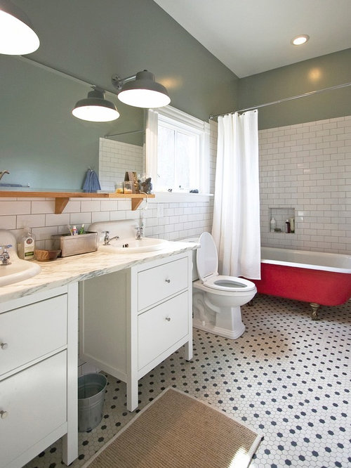 White Hex Tile Photos. Best White Hex Tile Design Ideas   Remodel Pictures   Houzz
