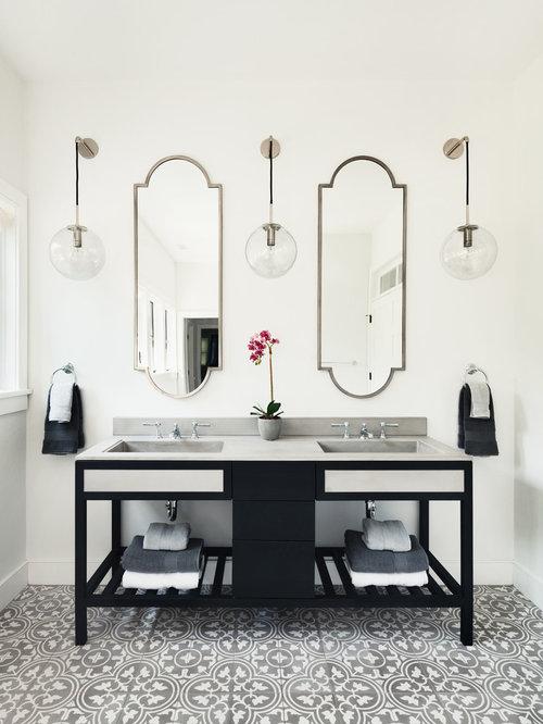 badezimmer mit speckstein waschtisch und integriertem waschbecken design ideen beispiele f r. Black Bedroom Furniture Sets. Home Design Ideas