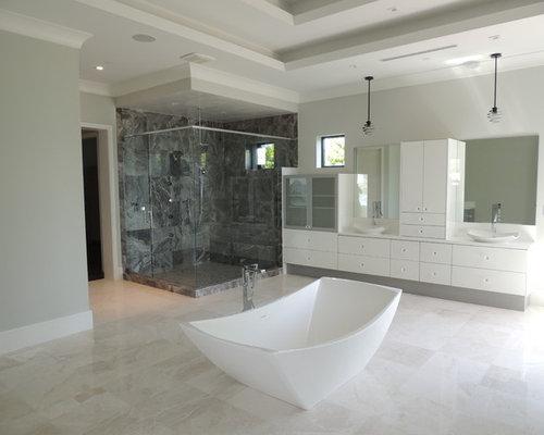 Bauhaus Fliesen Mediteran Steineoptik : Moderne Badezimmer mit weißen Fliesen: Ideen für die Badgestaltung
