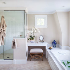 Transitional Bathroom by Irvin Serrano