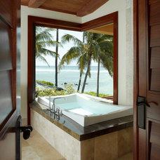 Tropical Bathroom by Applegate Tran Interiors