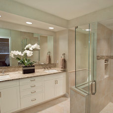 Transitional Bathroom by Wright Interior Group