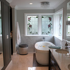 Transitional Bathroom by Brown & Brown Design and Contracting Ltd.