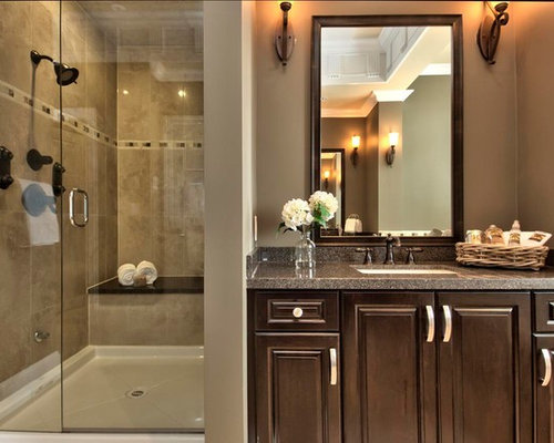 Tan brown granite vanity home design ideas pictures for Bathroom storage ideas new zealand