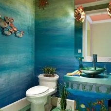 Tropical Bathroom by Periwinkle Designs