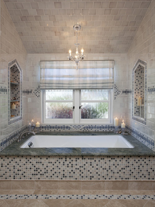 Mosaic Tile Tub Surround Ideas Pictures Remodel And Decor