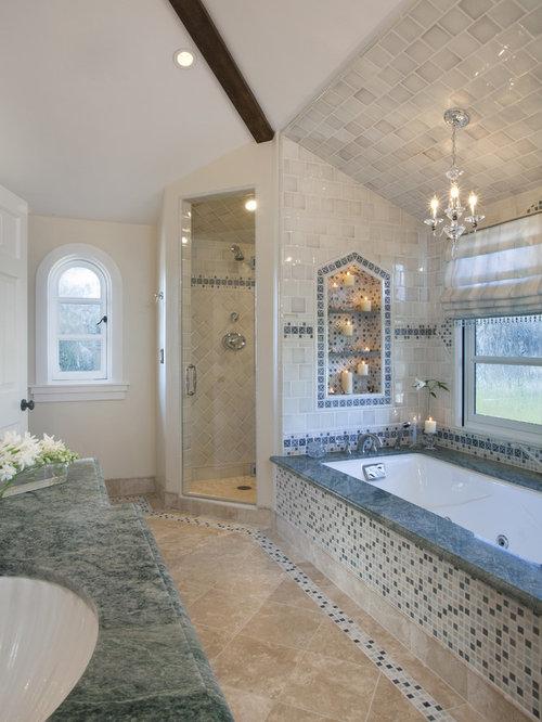 Mosaic Tile Tub Surround | Houzz
