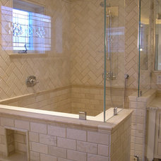 Traditional Bathroom by Design Moe Kitchen & Bath / Heather Moe designer