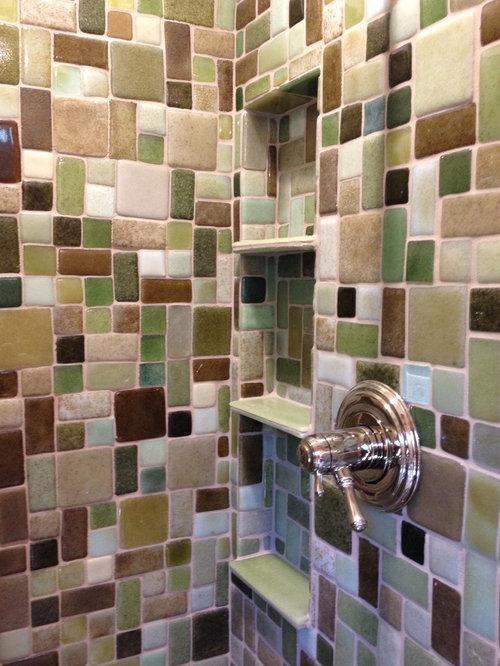 elegant ejemplo de cuarto de bao rstico con ducha empotrada baldosas yo azulejos marrones with azulejos bao rustico with cuarto bao rustico with azulejos - Azulejos De Cuarto De Bao