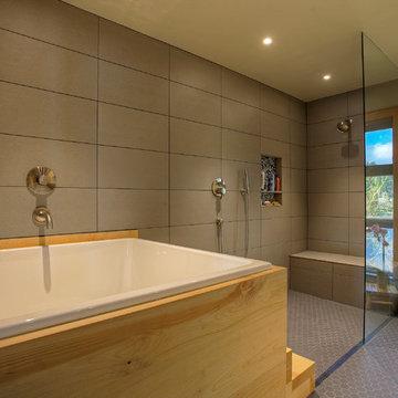 Ofuro Style Soaking Tub Bathroom Remodel