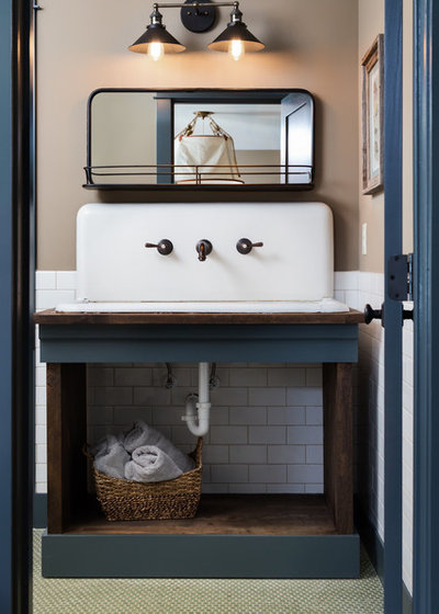 Transitional Bathroom by Willow Homes