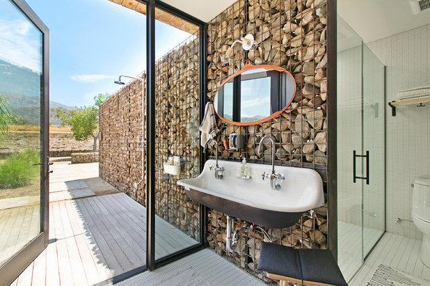 Farmhouse Bathroom by Sherri J Photography