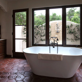 Ojai Spanish Mission Style Tub and outdoor shower