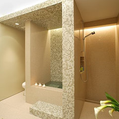 modern bathroom by OJMR Architects