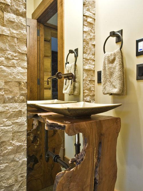 live edge vanity home design ideas pictures remodel and decor. Black Bedroom Furniture Sets. Home Design Ideas