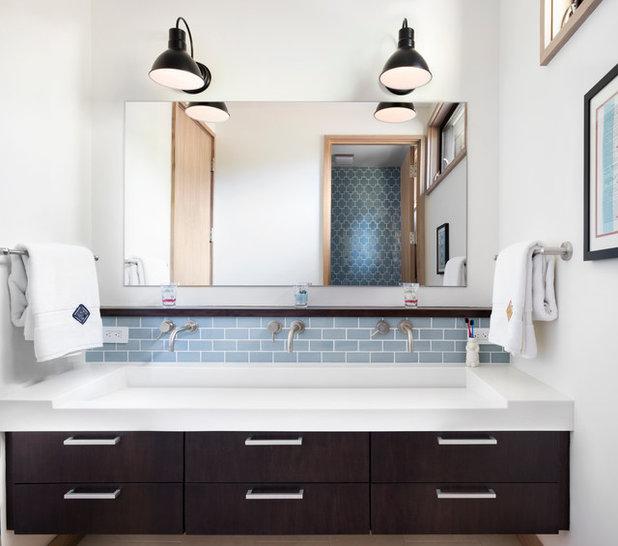 Vintage Transitional Bathroom by Hills u Grant