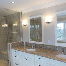 Farmhouse Bathroom by Anden Design Build