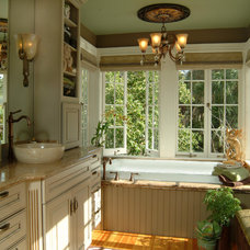 Eclectic Bathroom by Island Paint and Decorating