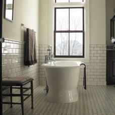 Farmhouse Bathroom by In Home Designs, LLC